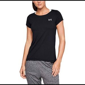 Women's Pink Under Armour Heat Gear Tee